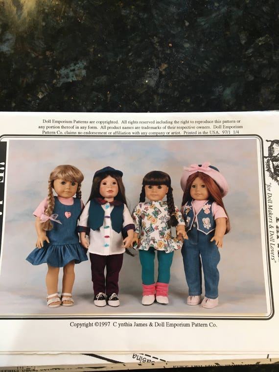 Reduced Vogue 8556 Play Clothes for 18 Inch Dolls Pattern