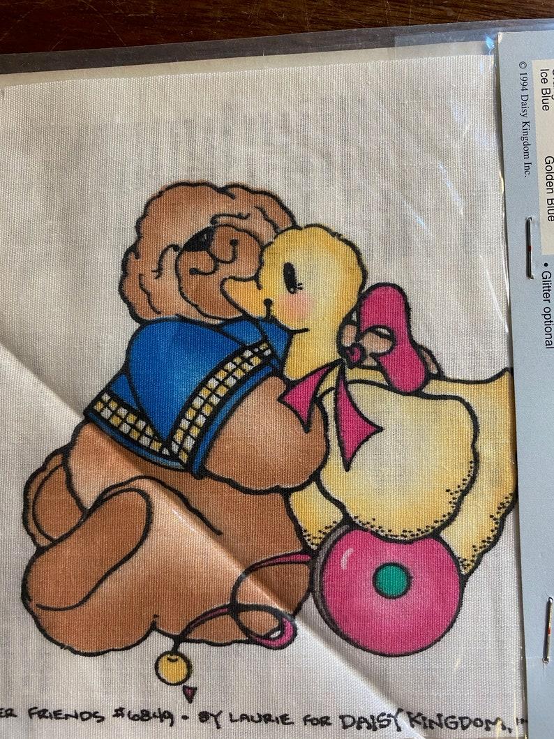 Friends Forever MINI #C113-1680 no sew appliqu\u00e9  clothing pillows etc quick Daisy Kingdom teddy bear /& Duck easy embellishment quilts