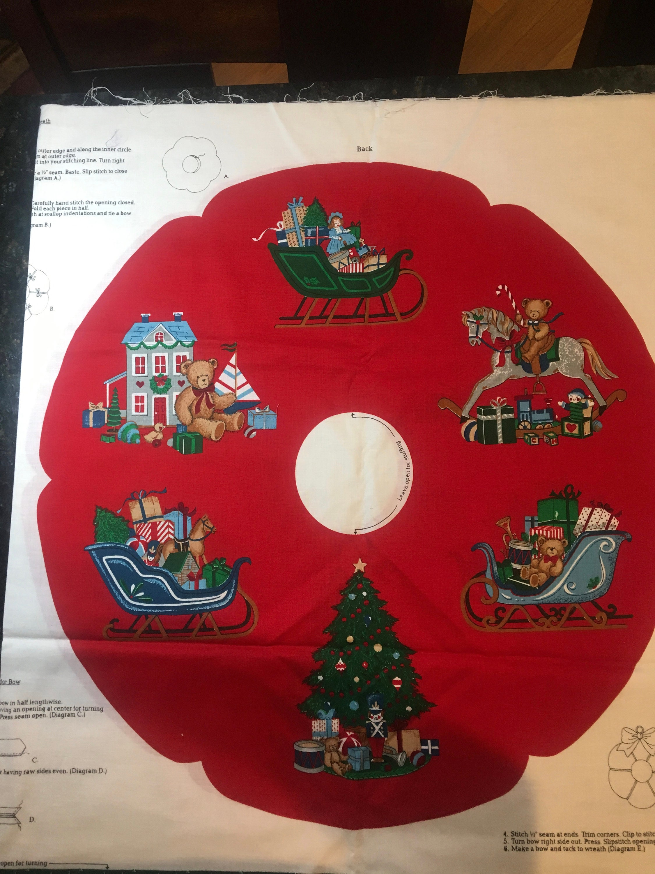 christmas wreath or small tree skirt home for the etsyAs You Can See Even On This Christmas Tree Diagram #14