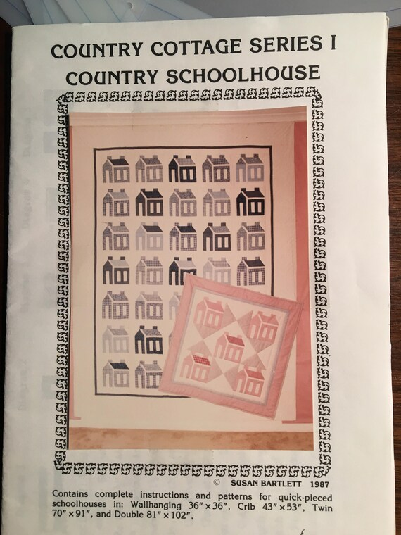 Country Schoolhouse Cottage Series I Quilt
