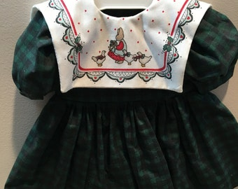 """18"""" Doll Clothes: Party Dress with Daisy Kingdom Collar"""