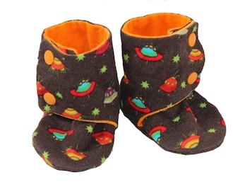 Hand-Made Baby Shoes - Space Ships