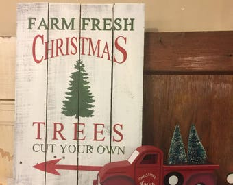 Fresh Cut Christmas Trees Sign.Christmas Tree Farm Sign Fresh Cut Christmas Trees Metal