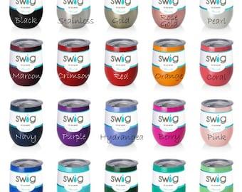 Personalized Name SWIG Cup, 12 oz wine cup, Custom Monogram, Team Gift, Insulated Tumbler, Beach Trip