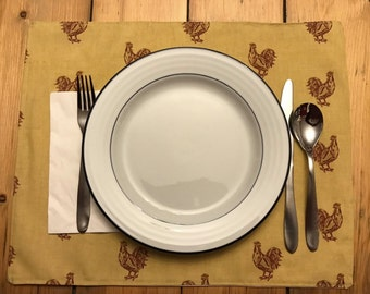 Rooster farm table placemats