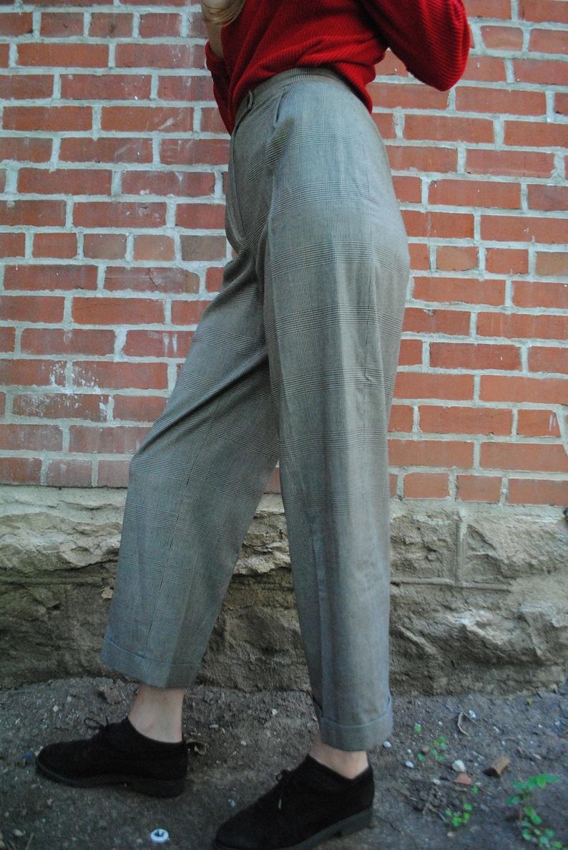 Valerie Stevens High Waist 90/'s Clothing Plaid Pants Retro Clothing Mom Style Trousers Vintage Clothing Mom Pants Vintage Pants S