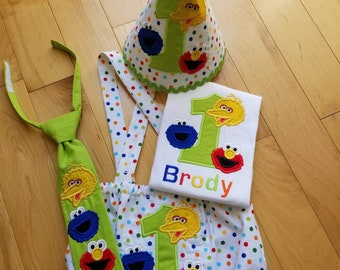 Sesame Street Inspired Birthday Outfit