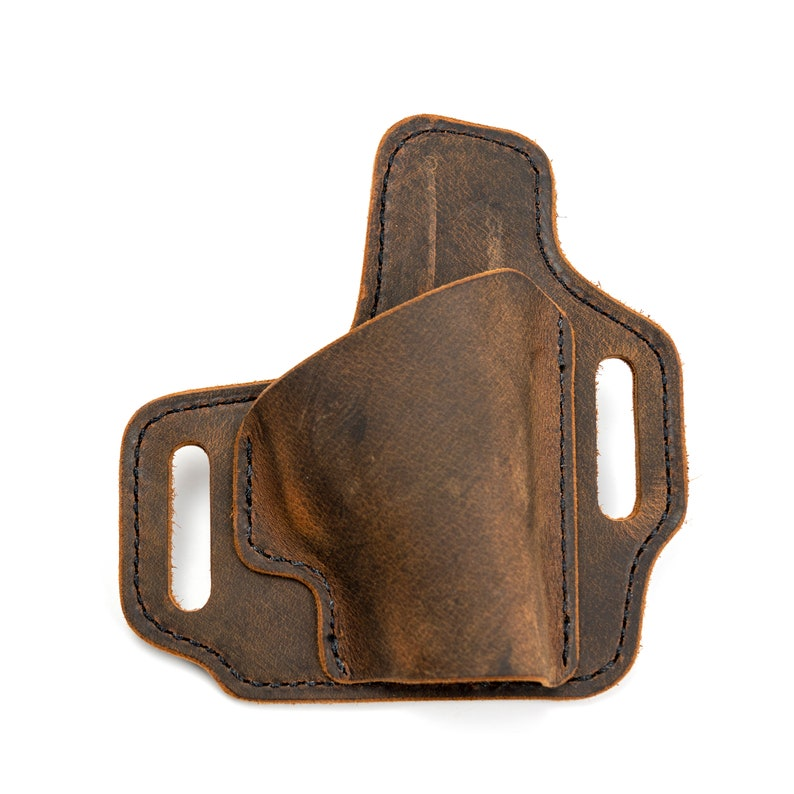 Kimber OWB Leather Holsters - Outside the Waistband Leather Holster-  Lifetime Warranty- Handcrafted in U S A