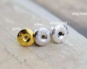 20 pcs (10 pairs) 925 sterling silver earring nuts stoppers backs backers bullet clutch for earring posts in 5mm SKUSG1