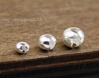 SCC110 4mm Crimp Covers 10 Pieces Sterling Silver .925