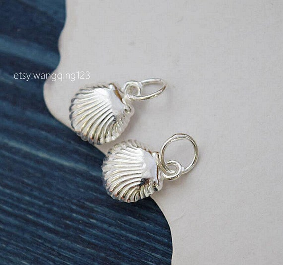 Sea Shell Seashell 3D encanto plata esterlina 925
