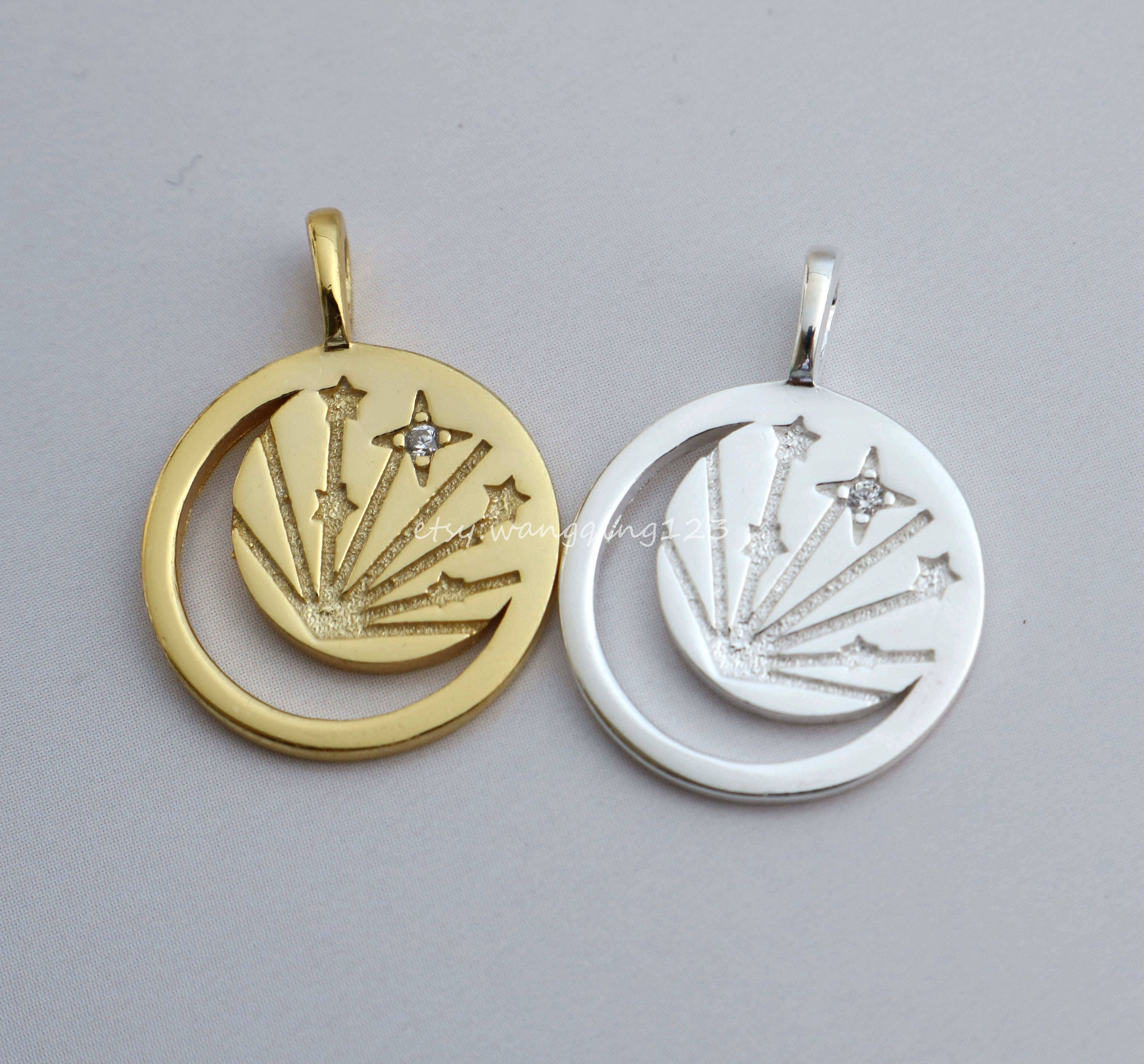 Solid 925 Sterling Silver Canada Map Charm Pendant Necklace