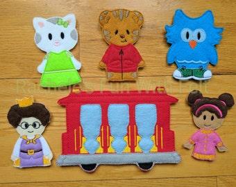 89e6bbba0b Daniel Tiger s Neighborhood inspired finger puppets