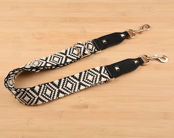 Off White and Black Woven Purse Strap Adjustable Bag Strap 4cm Width