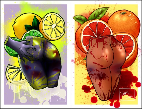 Anatomically Correct Fruit Candy Gore Series Etsy #candy gore #pastel gore #gore #gore art #artists on tumblr #aesthetic #gore aesthetic #pastel #blood #ych art #ych. etsy