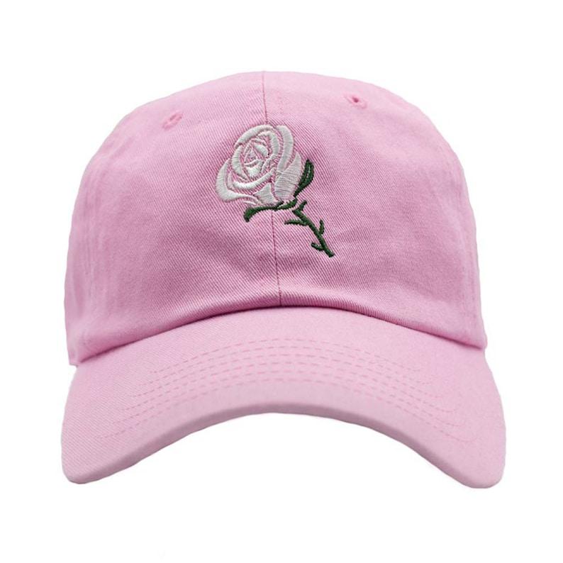 366b535d24b4d9 Rose Dad Hat Pink | Etsy