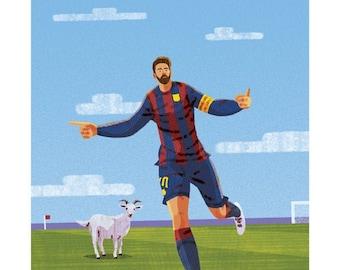 "Lionel Messi 11x14"" Print"