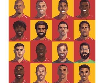 """Liverpool FC Squad 12x12"""" Print"""