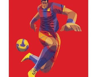 "Dani Alves Barcelona 11x14"" Print"