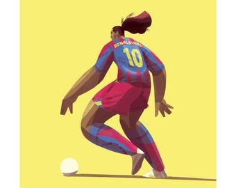 "Ronaldinho 12x12"" Print"