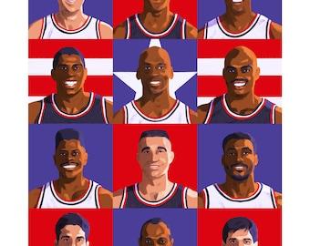 """1992 Dream Team 11x14"""" Print"""