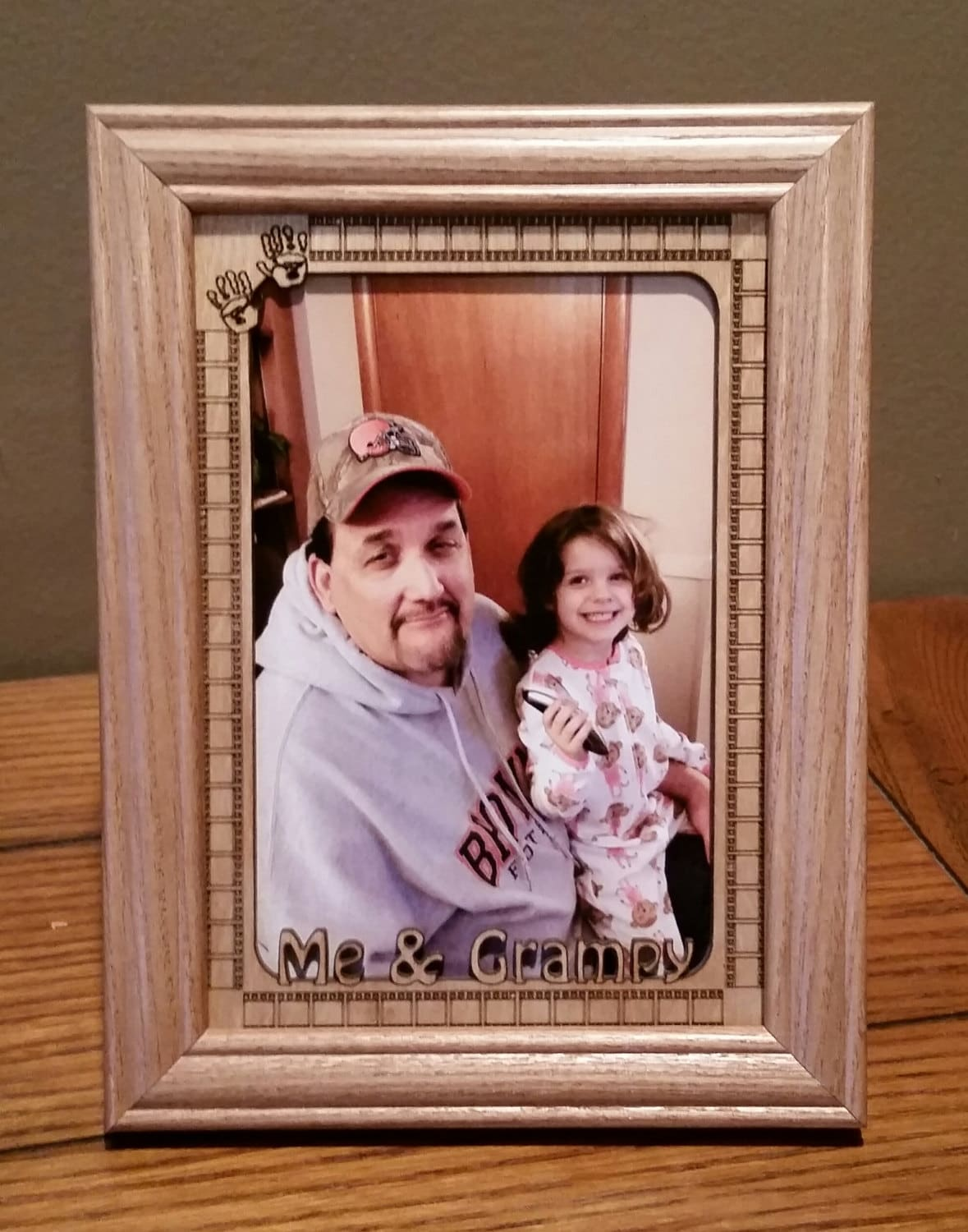 5x7 Laser Engraved Picture Frame and Matte Me and Grampy | Etsy