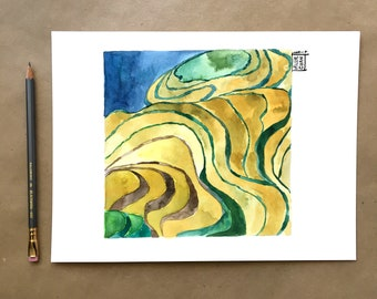 Levels of Home - original watercolor painting