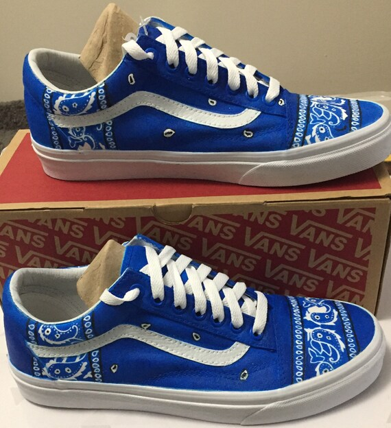 Mens 8.5 Bandana Custom Old Skool Vans