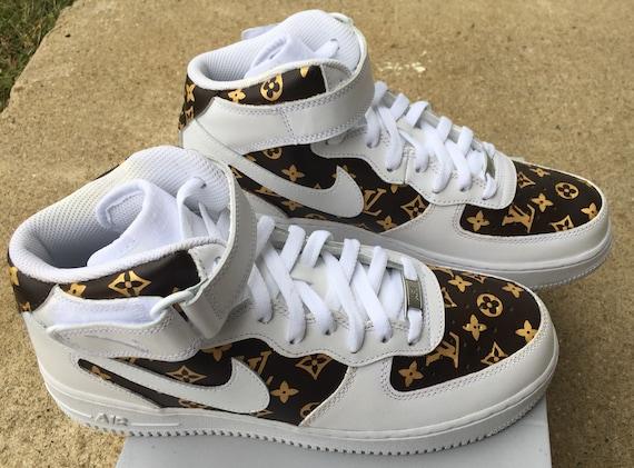 LV Print Shoes Custom Air Force 1