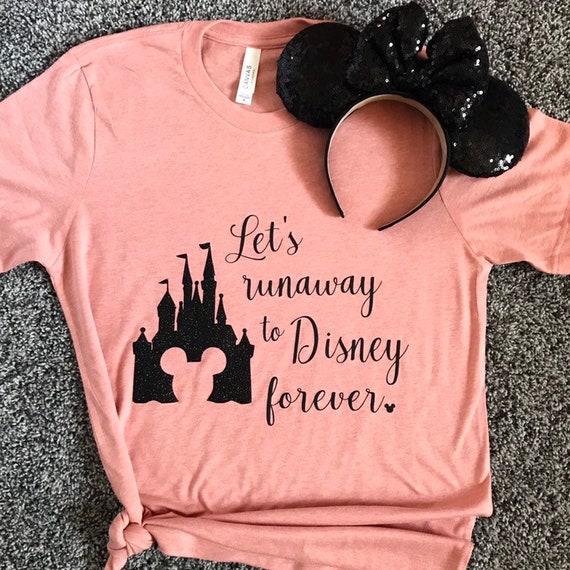 Disney Light Pink Disney Castle Ladies Crew Sweater Jumper
