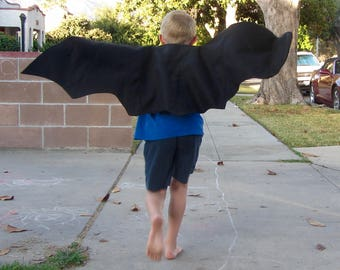 Bat Wings - Dragon Wings - Children's Pretend Play and Costume - Eco-Felt - Easy On/Off Elastic Straps