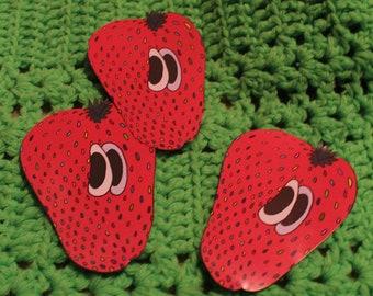 Cartoon Strawberry Sticker
