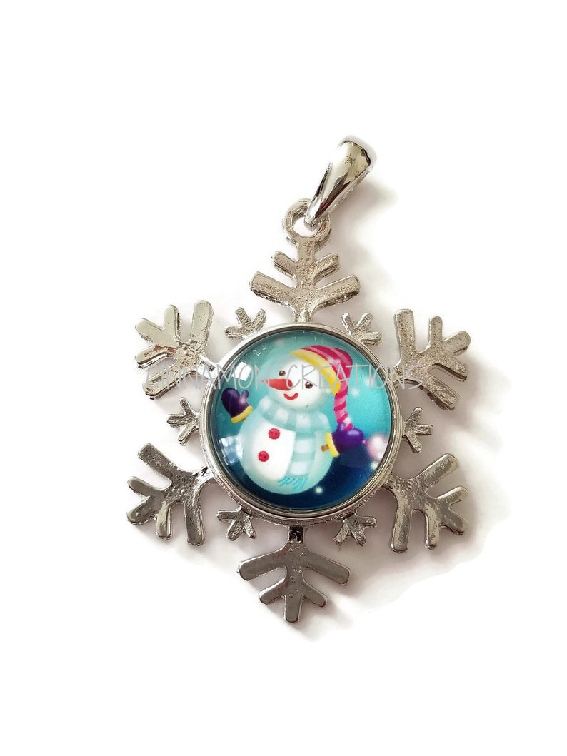 Snowman Glass Snap CharmsButtons 18mm-20mm Fits Ginger Snap /& Noosa Snap Jewelry