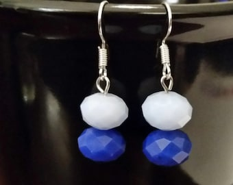 Double Blue Earrings