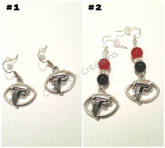 a84cf192 Atlanta Falcons Earrings, Falcons Earrings, Rise Up