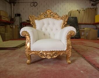 2 x BRAND NEW - Venice Wedding  Armchair - Gold & White