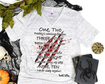 Freddy Kruger Lullaby Halloween T Shirt, Horror Film Character Shirt, Halloween Movie Tee, Elm Street Halloween Tshirt, Cool Killers