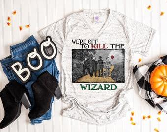 Wizard Halloween T Shirt, Horror Film Characters Shirt, Halloween Movie Tee, Jason Michael Freddy Chucky It Halloween Tshirt, Off to Kill