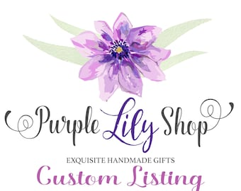 Shipping Label for Purple Lily Shop Item