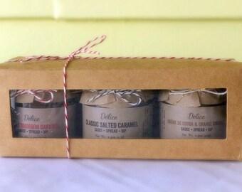 Caramel Sauce Trio - Salted/Bourbon/Creme de Cocoa