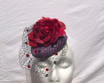 Floral derby hats for women, ladies fascinator