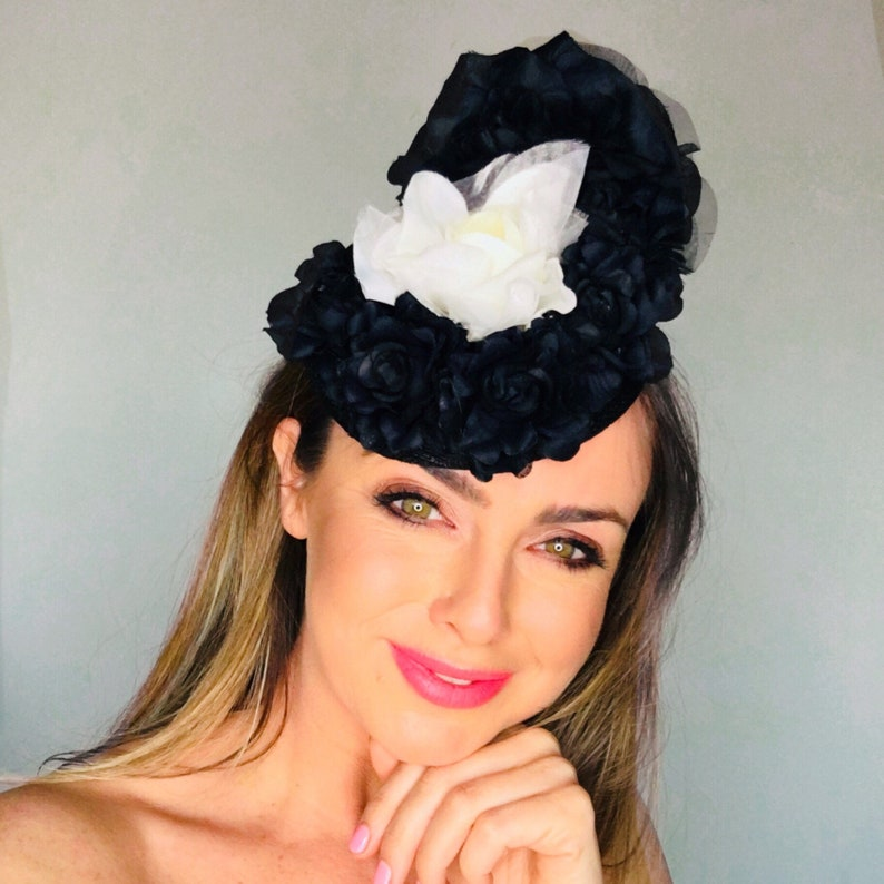 1fba04f94bfcc Ascot hats for women Ascot hats Black white ladies race hat