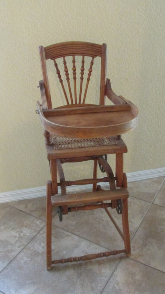 image 0 - Antique Chichester Convertible High Chair And Stroller Etsy