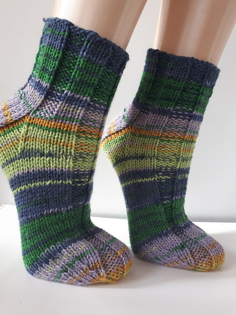 a8d1e99f9c1ec Wool socks Hand knit unisex socks Womens winter socks Knitted | Etsy