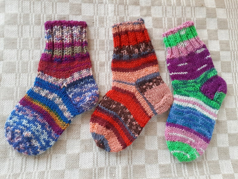 Baby children wool socks 14 cm Hand knitted baby children socks  Handmade socks Wool socks Warm socks 2-4 year old children 14 cm  long foot
