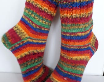 Wool socks Hand knit unisex socks Womens winter socks Knitted socks Women socks