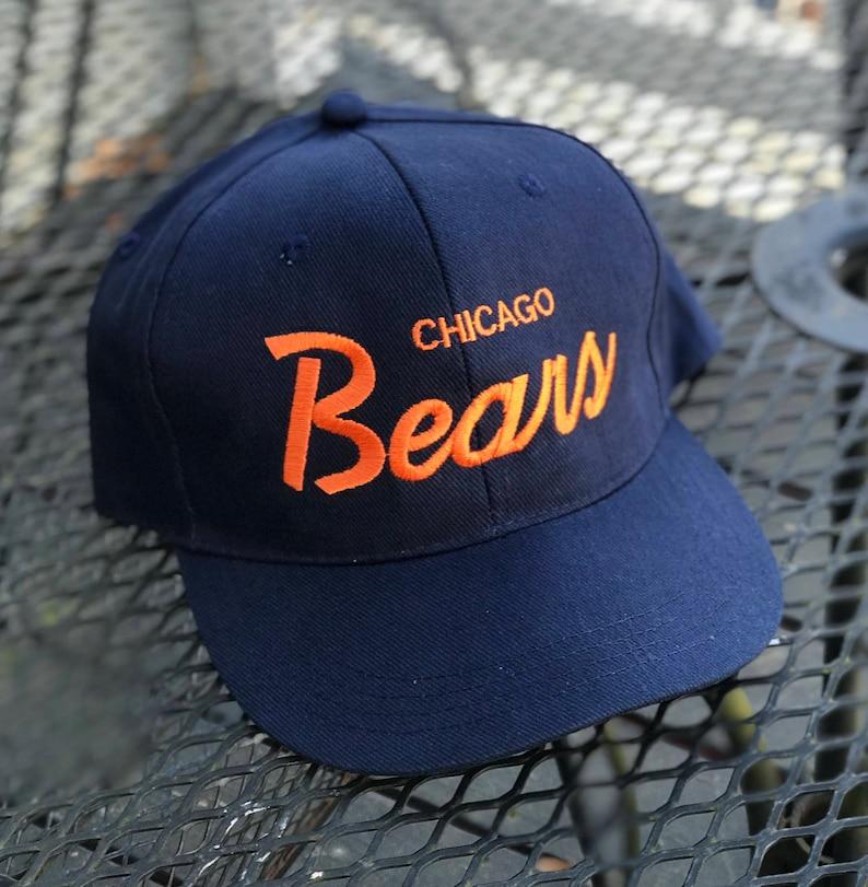 super popular ee547 cbef2 Vintage Chicago Bears SnapBack Hat Cap 90s Christmas Vacation   Etsy
