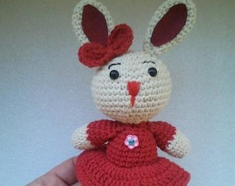 Crochet Bunny, Plush Toy, Amigurumi Rabbit, Stuffed Animal, Cute Soft Toy, Bunny Plush, Bunny Gift, Crochet Animal, Crochet rabbit