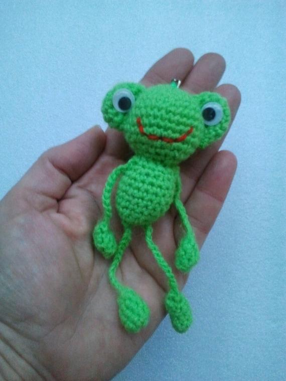 Gehäkelte Schlüsselanhänger Frosch Amigurumi Frosch Gefüllt Etsy