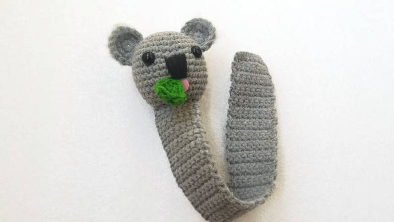 Crochet Bookmark Koala Funny Teacher